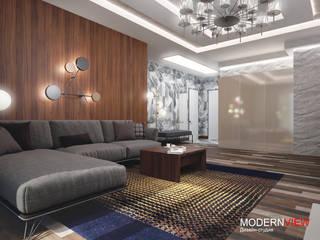 Апартаменты Маяковская 78м2: Гостиная в . Автор – Дизайн - студия  Modern View