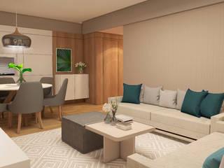 INTERIORES F | G Salas de estar modernas por Drömma Arquitetura Moderno