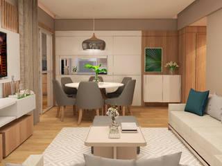INTERIORES F | G Salas de jantar modernas por Drömma Arquitetura Moderno