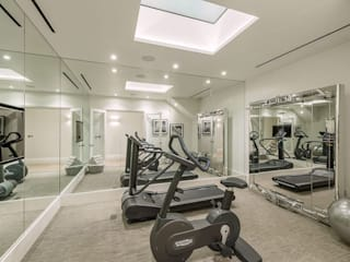 Basement - Gym Conversion SJ Construction London Modern gym