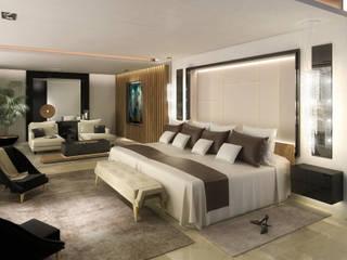 Vivienda Unifamilar - La Moraleja - Madrid Dormitorios modernos: Ideas, imágenes y decoración de MADBA design & architecture Moderno