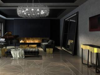 Vivienda Unifamilar - La Moraleja - Madrid Paredes y pisos modernos de MADBA design & architecture Moderno