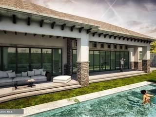Casa en Hacienda la Paloma: Terrazas de estilo  por DAMAJO Grupo Inmobiliario,