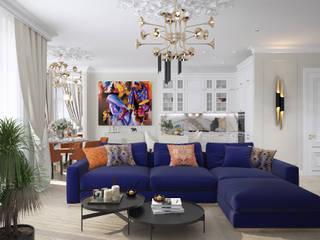 Квартира на Цветном: Гостиная в . Автор – Инна Азорская