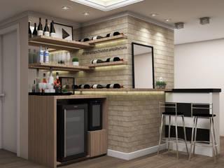 Bodegas de vino de estilo  por Bruna Schuster Arquitetura & Interiores, Moderno