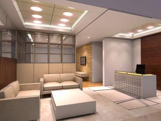 Penthouse MOI:  Ruang Keluarga by Dekapolis Design