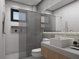 Baños de estilo  por Bruna Schuster Arquitetura & Interiores, Minimalista