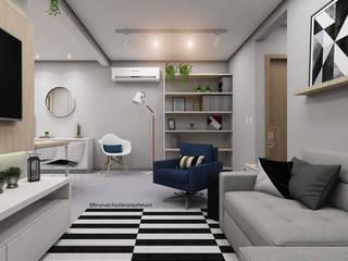 Salas / recibidores de estilo  por Bruna Schuster Arquitetura & Interiores, Minimalista