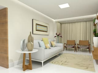 Apartamento de Fábio e Karla Salas de estar clássicas por LC Design de Interiores Clássico