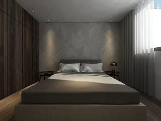 Taipei Z House:  臥室 by 質覺制作設計有限公司