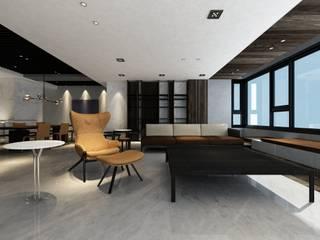 Taipei Z House:  客廳 by 質覺制作設計有限公司