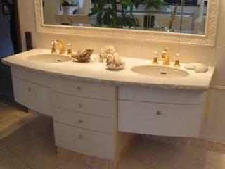 Waschtische aus Marmor und Granit:  Badezimmer von Natursteindesign Rompf