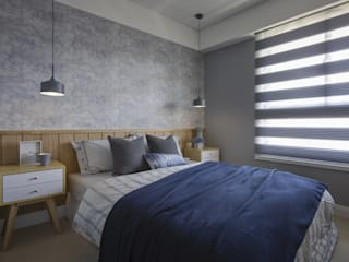 辰林設計 Scandinavian style bedroom Grey