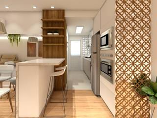 Living - JA: Salas de jantar  por Grama Arquitetura