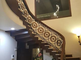 Raheja Creations Modern Corridor, Hallway and Staircase
