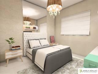 Residência Maykon e Gabriella Quartos modernos por Karla Araujo | Arquitetura + Interiores Moderno