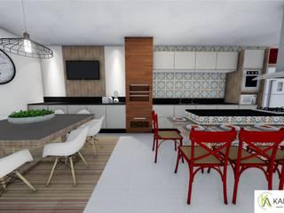 Residência - Claudenir e Ludmila Cozinhas modernas por Karla Araujo | Arquitetura + Interiores Moderno