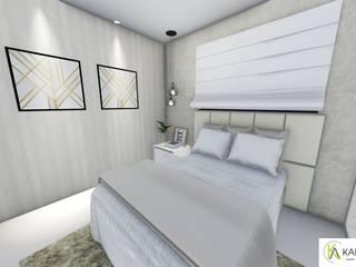 Residência - Claudenir e Ludmila Quartos modernos por Karla Araujo | Arquitetura + Interiores Moderno