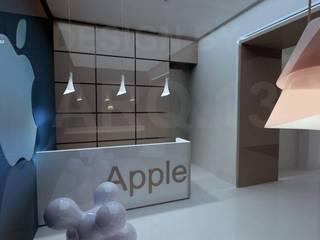 CENTRO APPLE: Espacios comerciales de estilo  por ARQ.13