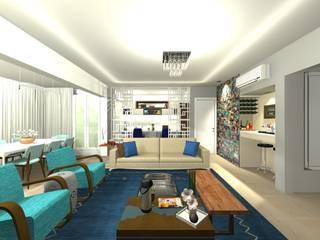 Sala de Estar: Salas de estar  por Camila Zagonel Interiores