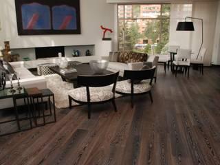 Pisos Millenium 现代客厅設計點子、靈感 & 圖片 木頭 Grey