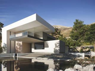 Fachada : Casas de estilo minimalista por CIC ARQUITECTOS
