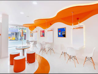 Thick shake cafe interiors Modern gastronomy by Rhythm And Emphasis Design Studio Modern