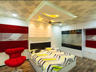 4BHK Villa residence interiors Modern style bedroom by Rhythm And Emphasis Design Studio Modern