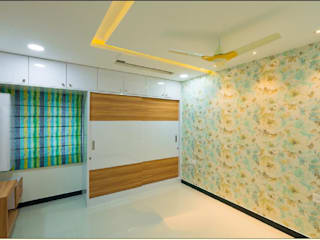 4BHK Villa residence interiors Modern dressing room by Rhythm And Emphasis Design Studio Modern
