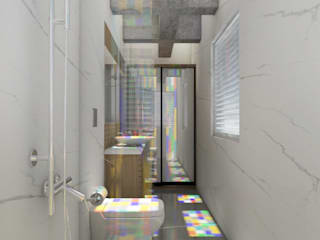Studio Apartment Modern bathroom by Rhythm And Emphasis Design Studio Modern
