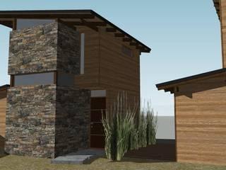 GS TALLER DE ARQUITECTURA Bungalows Stone Wood effect