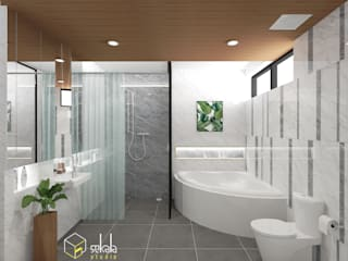 SEKALA Studio Tropical style bathrooms Granite White