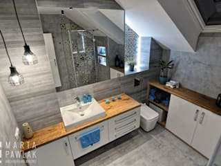 Dom Jednorodzinny Pruchna od MARTA PAWLAK ARCHITEKTURA WNĘTRZ