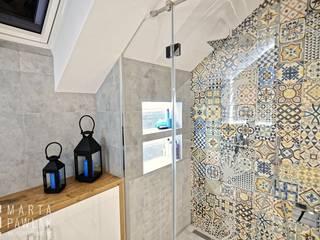 Łazienka: styl , w kategorii  zaprojektowany przez MARTA PAWLAK  ARCHITEKTURA  WNĘTRZ