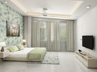 very simple and modern looking residence interiors Modern style bedroom by Rhythm And Emphasis Design Studio Modern