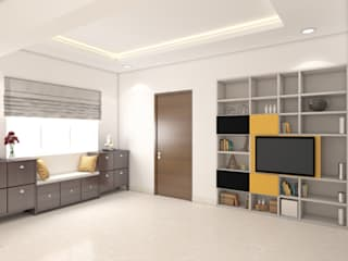 Interior design Idea of a flat for small Family Modern corridor, hallway & stairs by Rhythm And Emphasis Design Studio Modern