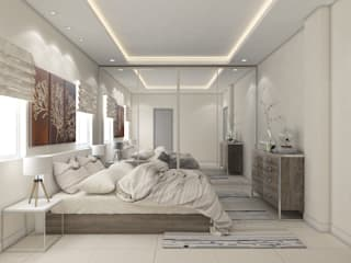 Interior design Idea of a flat for small Family Modern style bedroom by Rhythm And Emphasis Design Studio Modern