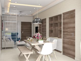 2 BHK residence interiors Modern dining room by Rhythm And Emphasis Design Studio Modern