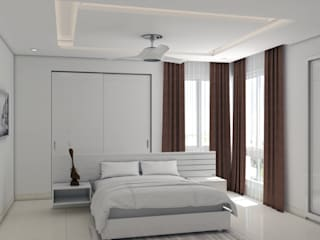 Minimalistic interiors for residence Modern style bedroom by Rhythm And Emphasis Design Studio Modern