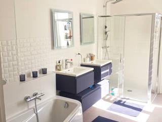 Rénovation intérieur dans un maison à Reims Salle de bain moderne par Optiréno Moderne