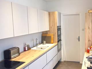 Rénovation intérieur dans un maison à Reims Cuisine moderne par Optiréno Moderne