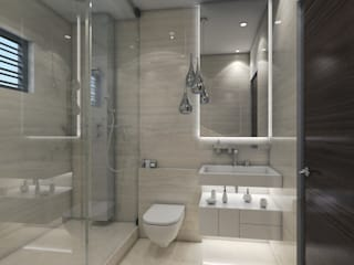 bathroom interiors : modern  by Rhythm  And Emphasis Design Studio ,Modern