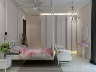 Modern 3BHK flat interiors by Rhythm And Emphasis Design Studio