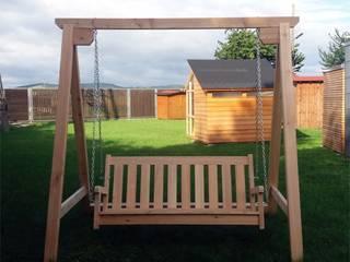 Meble ogrodowe drewniane : styl , w kategorii  zaprojektowany przez Geisser Sp z o.o.