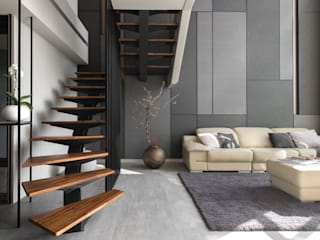 homify Stairs Wood-Plastic Composite Brown