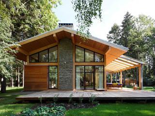 Современный загородный дом - Woodlark-house: Загородные дома в . Автор – Роман Леонидов - Архитектурное бюро