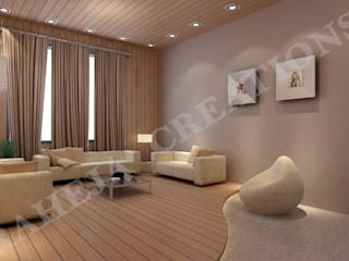 Interior Modern living room by Raheja Creations Modern