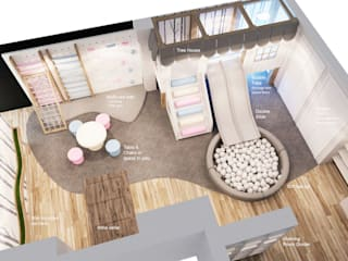 Gender Neutral Playroom (Concept) Modern nursery/kids room by Tigerplay Modern