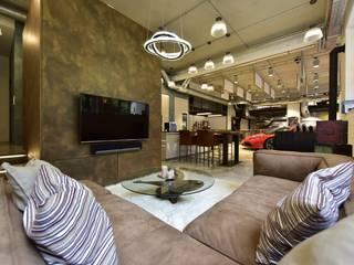 raum in form - Innenarchitektur & Architektur Salon moderne Ambre/Or