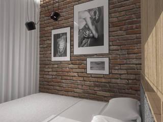 Mieszkanie w Warszawie Nowoczesna sypialnia od Autorska Pracownia Architektury Trojanowscy Nowoczesny